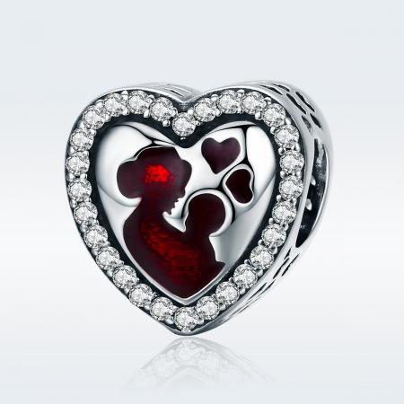 Charm argint 925 inimioara mama si copilul - Be in Love PST01221