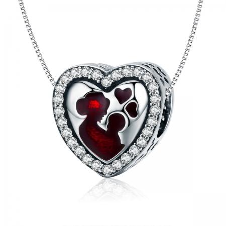 Charm argint 925 inimioara mama si copilul - Be in Love PST01226
