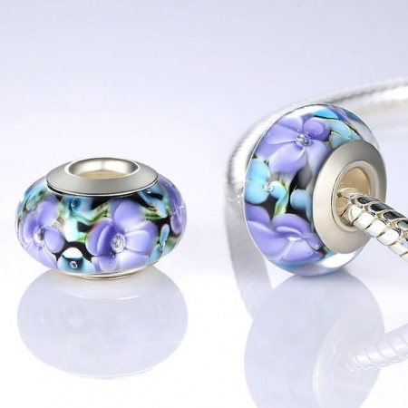 Charm fantezie cu flori PSTF0008 [1]