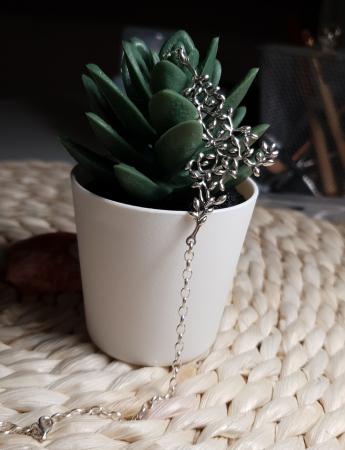 Colier argint 925 cu crengute si floricele - Be Nature CBU0005
