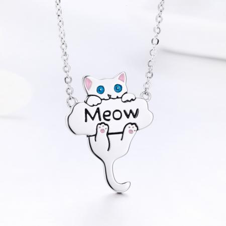Colier argint 925 cu pisicuta jucausa Meow- Be Nature CST00133