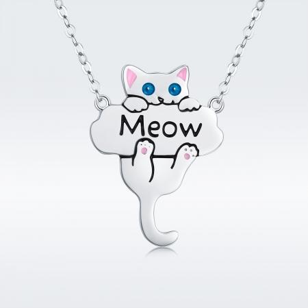 Colier argint 925 cu pisicuta jucausa Meow- Be Nature CST00132