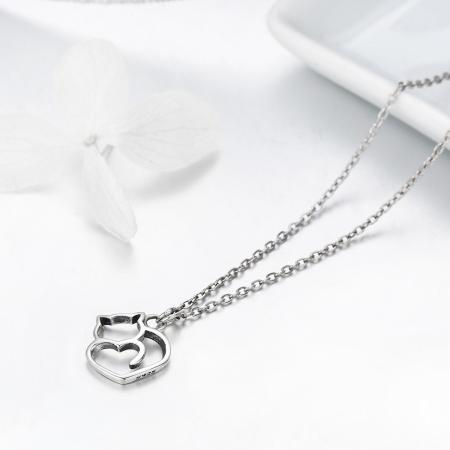 Colier argint 925 cu pisicute si inimioara - Be Nature CST00084