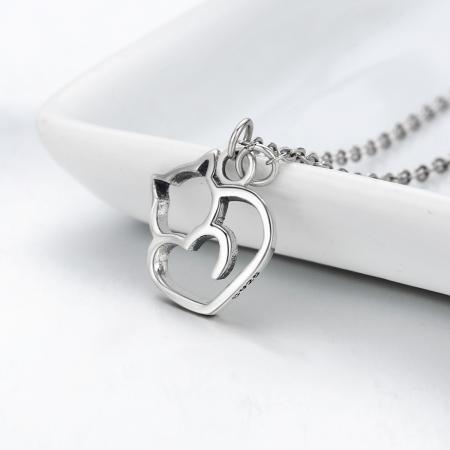 Colier argint 925 cu pisicute si inimioara - Be Nature CST00083