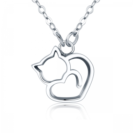 Colier argint 925 cu pisicute si inimioara - Be Nature CST0008