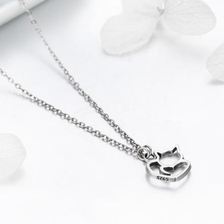 Colier argint 925 cu pisicute si inimioara - Be Nature CST00085