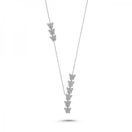 Colier argint 925 rodiat cu fluturasi - Be Nature CTU0072
