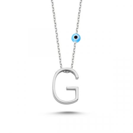 Colier argint 925 rodiat cu litera G CTU0005