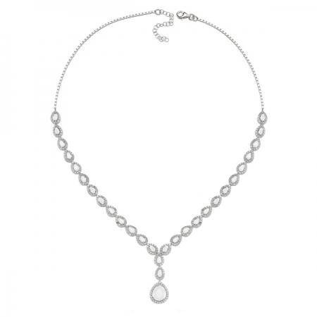 Colier argint 925 rodiat cu zirconii albe - Be Elegant CSTU0033
