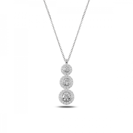Colier argint 925 rodiat cu zirconii albe - Be Elegant CTU0064