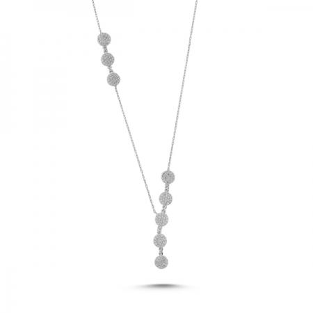 Colier argint 925 rodiat cu zirconii albe - Be Elegant CTU0071