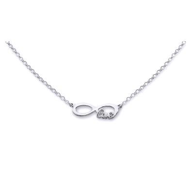 Colier argint 925 rodiat Love cu simbolul infinit - Infinite Love