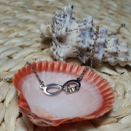 Colier argint 925 rodiat Love cu simbolul infinit - Infinite Love [2]