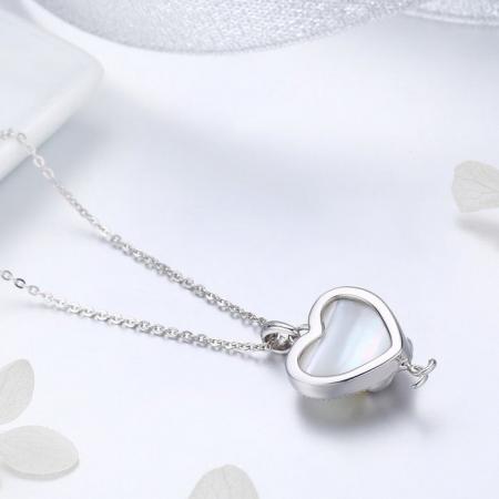 Colier argint cu  inimioara si pisicute indragostite3