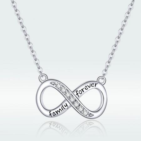 Colier argint Dragoste Infinita - family forever [6]