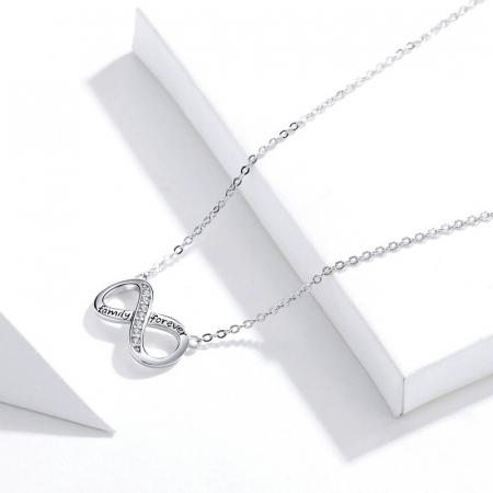 Colier argint Dragoste Infinita - family forever [5]