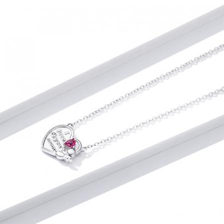 Colier argint Dragoste pentru Mama cu Ingeras si zirconii1