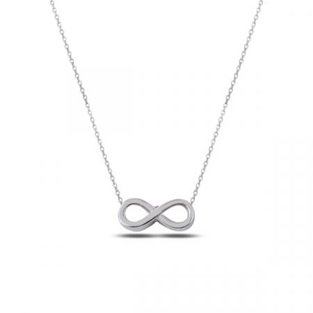 Colier argint infinit placat cu rodiu - CTU0100