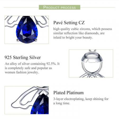 Colier argint reglabil cu ingeras5