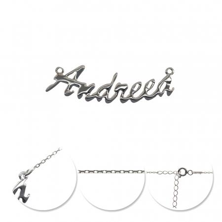 Colier din argint 925 personalizat cu nume Andreea