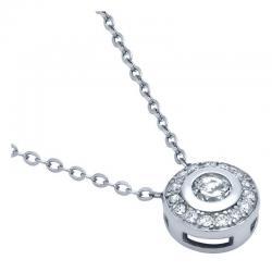 Colier elegant argint 925 rodiat cu zirconii0