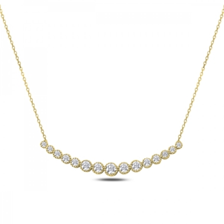 Colier tennis argint 925 aurit cu zirconii albe - Be Elegant CTU0079