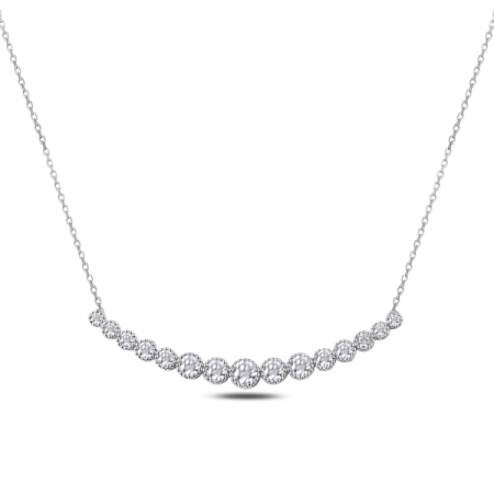 Colier tennis argint 925 rodiat cu zirconii albe - Be Elegant CTU0080