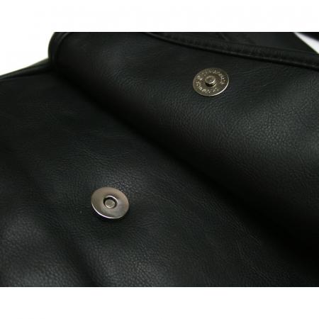 Geanta pentru umar Bellugio, BORZ003, din piele ecologica, Neagra [5]