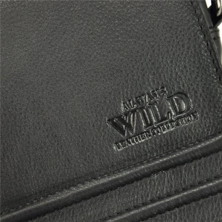 Geanta pentru umar din piele naturala Always Wild, Neagra11