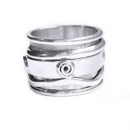Inel argint 925 Antistres, Mantra1