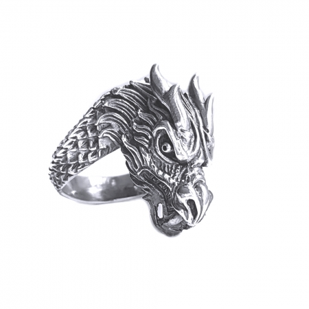Inel argint 925 cap de dragon