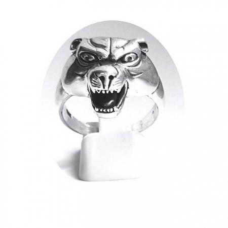 Inel argint 925 cap de pantera1