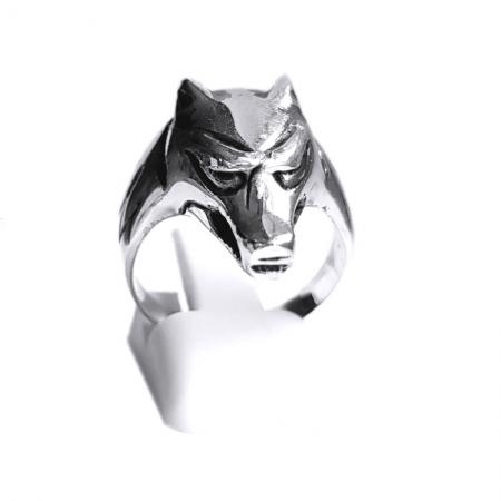 Inel argint 925 cap de lup