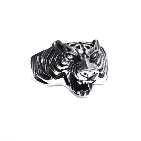 Inel argint 925 cap de tigru