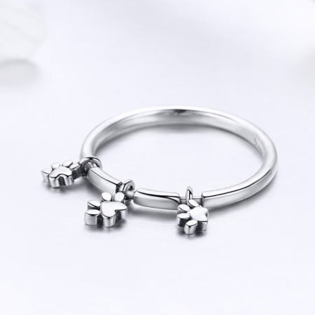 Inel argint 925 cu amprente labute catel - Be Nature IST0052 [2]