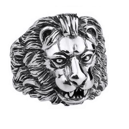 Inel argint 925 cu cap de leu, Aslan