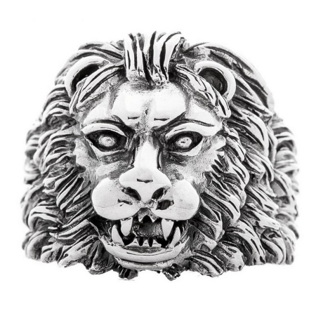 Inel argint 925 cu cap de leu, Aslan3