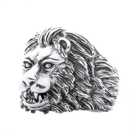 Inel argint 925 cu cap de leu, Aslan4