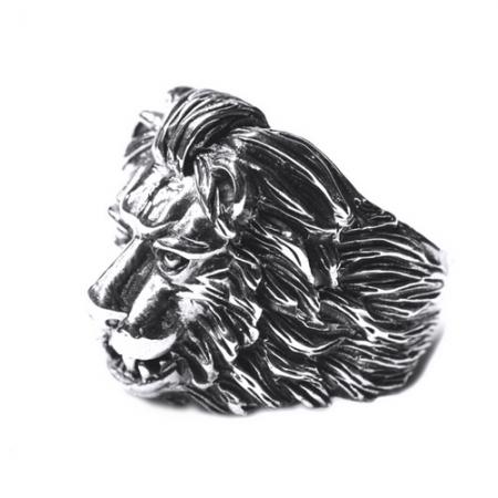 Inel argint 925 cu cap de leu, Aslan2