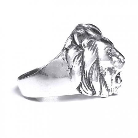Inel argint 925 cu cap de leu, Leon2