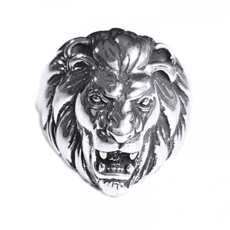 Inel argint 925 cu cap de leu, Leon