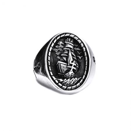 Inel argint 925 cu corabie