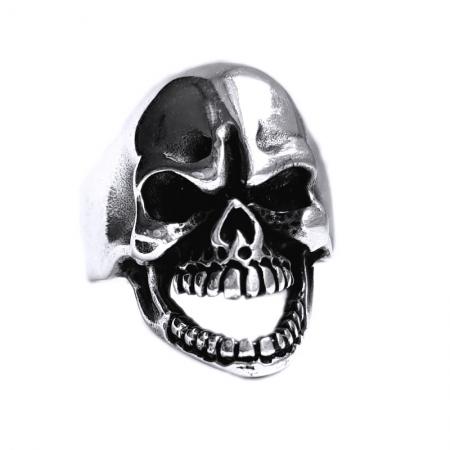 Inel argint 925 cu craniu, Mad Skull