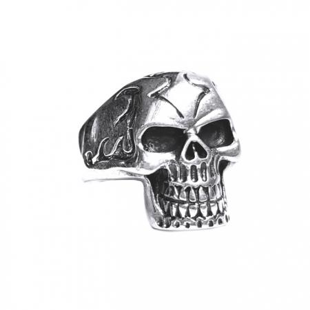Inel argint 925 cu craniu1