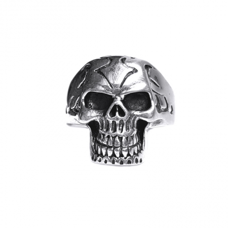 Inel argint 925 cu craniu