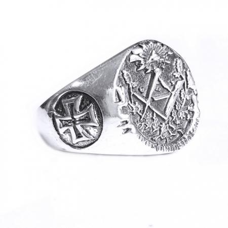 Inel argint 925 cu cruce si simboluri malteze , Ritual1