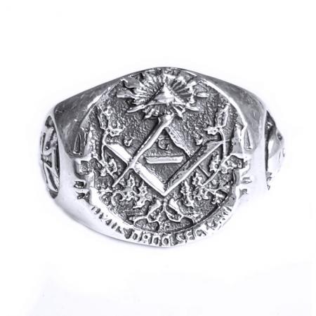 Inel argint 925 cu cruce si simboluri malteze , Ritual
