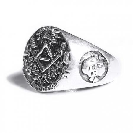Inel argint 925 cu cruce si simboluri malteze , Ritual2