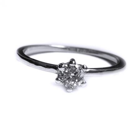 Inel argint 925 rodiat cu zirconiu alb INE0812