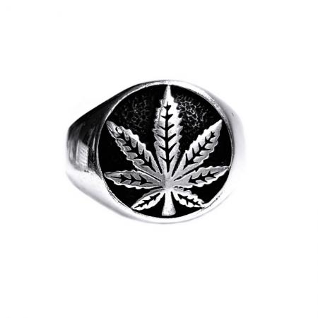 Inel argint 925 cu frunza de marijuana, Rebel Soul